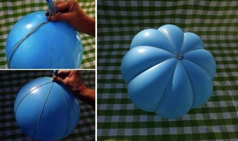 Тыква для Хэллоуина из воздушного шарика