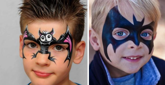 детский грим для мальчика на хэллоуин