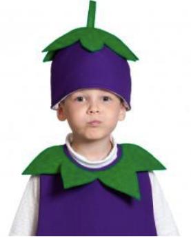 шапочка баклажана