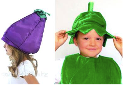 шапочка в виде овоща или цветка