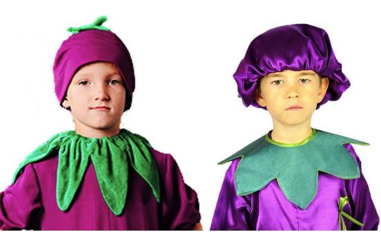шапочка для костюма баклажана