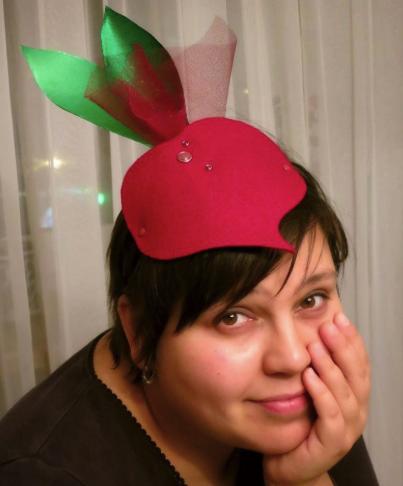 шапочка свеклы для взрослого