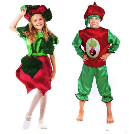 костюм свеклы для девочки и для мальчика