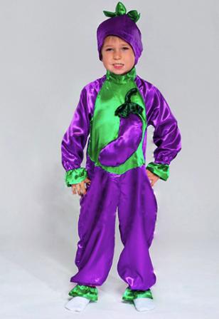 костюм баклажана для мальчика