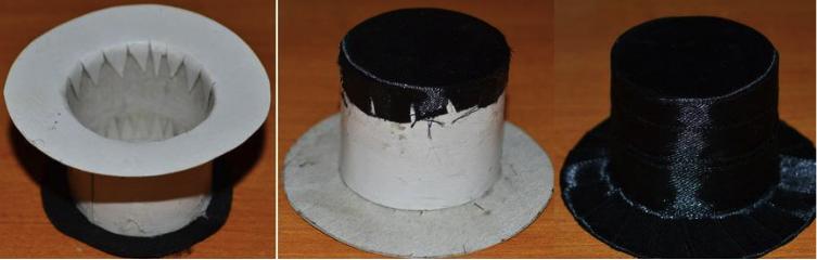 как сделать миниатюрную шляпку-цилиндр