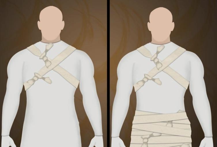 перевязь на плечи для костюма мумии