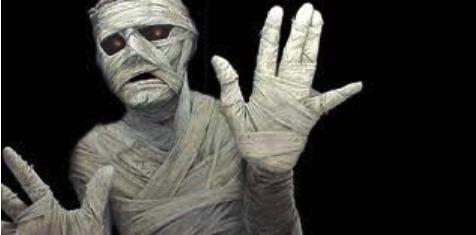 устрашающий вид мумии