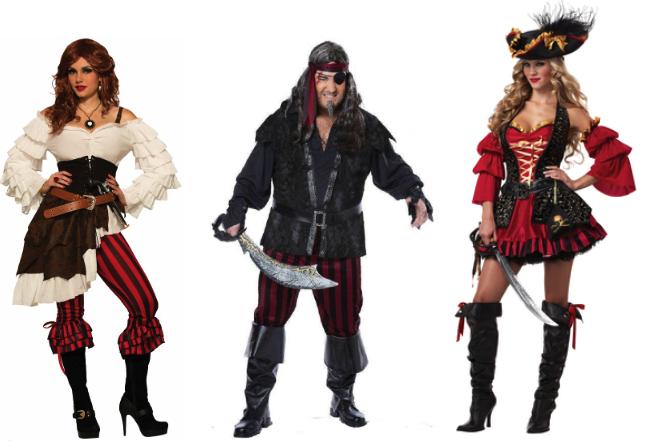 мужские и женские костюмы пиратов