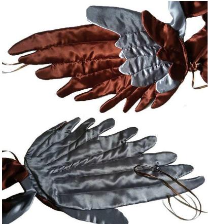 шьём крылья воробья на резинках