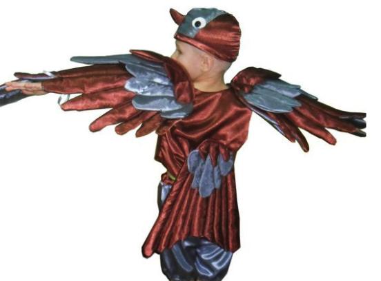 костюм воробья с крыльями
