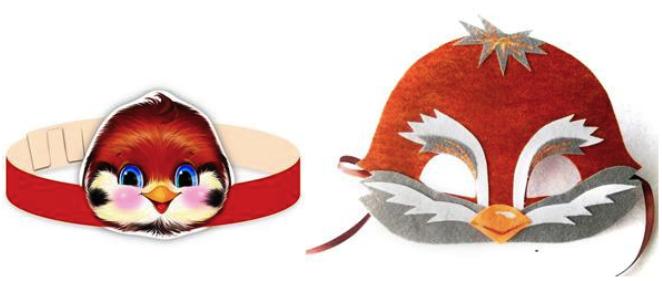 маска воробья из фетра