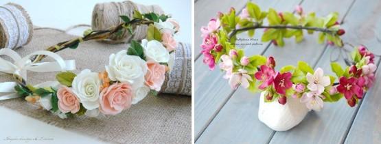 Венки с цветами для костюма весны