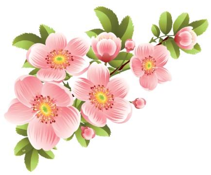 Цветочный рисунок для грима к костюму весны