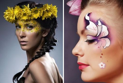 Цветочный грим к костюму весны для взрослых