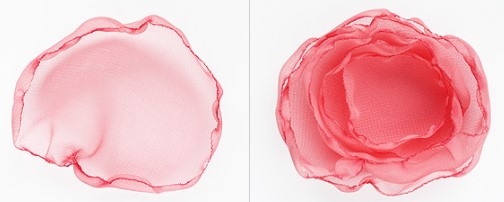 Изготовление розового цветка для костюма весны