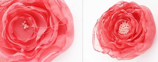 Цветок с бисером для костюма весны