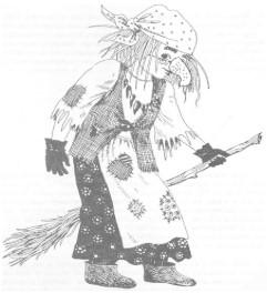 чёрно-белый рисунок Яги