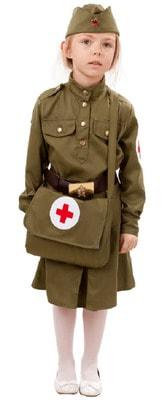 Фото Костюм Военная медсестра с сумкой детский
