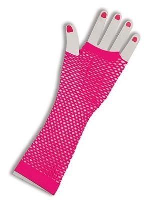 Фото Перчатки розовые ажурные