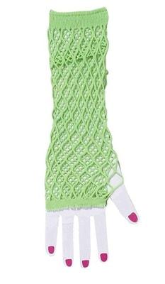 Фото Перчатки зеленые ажурные
