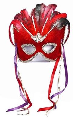 Фото Карнавальная маска (красная)