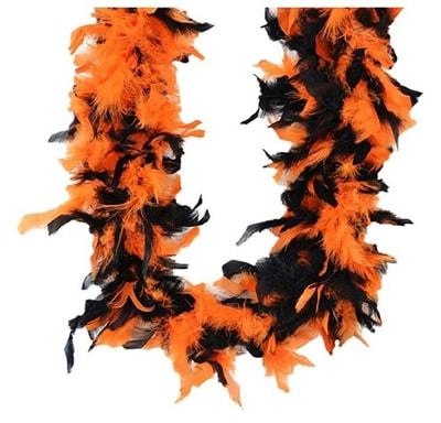Фото Карнавальное боа (оранжево-черное)
