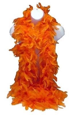 Фото Карнавальное боа (оранжево-красное)