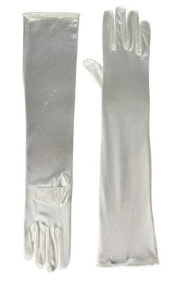 Фото Перчатки длинные белые взрослые