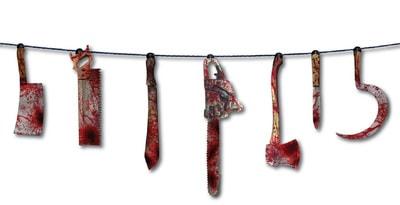 Фото Декорация окровавленное оружие