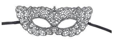 Фото Ажурная маска Незнакомка серебряная