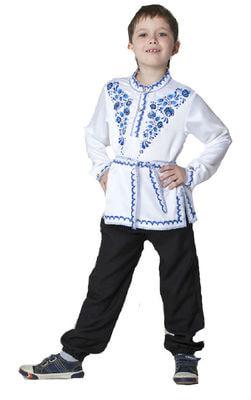Фото Косоворотка Гжель с поясом детская