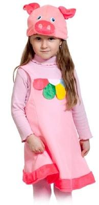 Фото Костюм Поросенок плюш в платье детский