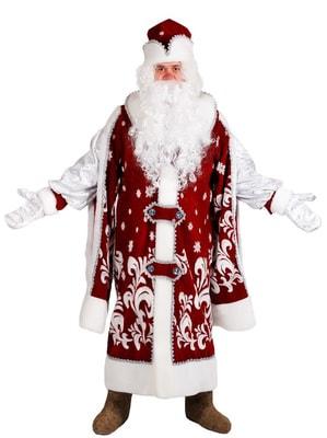 Фото Костюм Дед Мороз Царский с бородой взрослый