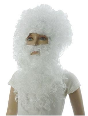 Фото Парик и борода Дед Мороза Люкс