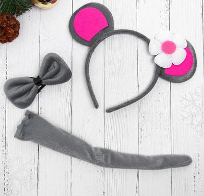 Фото Карнавальный набор Мышка с цветочком