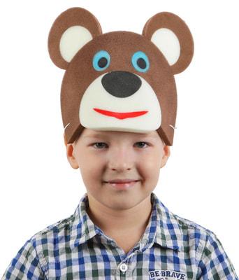 Фото Карнавальная маска Медведь на резинке