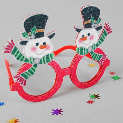 Фото Очки Снеговик в шляпе