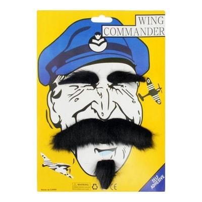 Фото Карнавальные усы с бровями и бородой черные