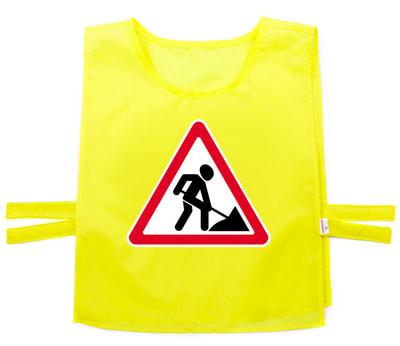 Фото Жилет дорожный знак дорожные работы