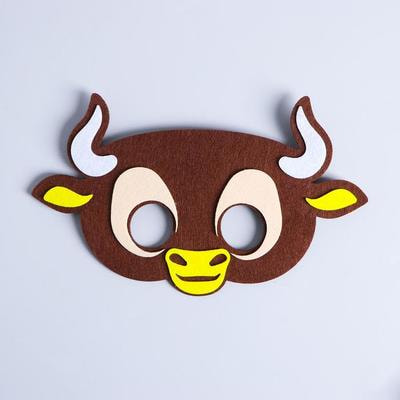 Фото Карнавальная маска Бычок Вилли из фетра