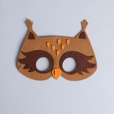 Фото Карнавальная маска Совенок из фетра
