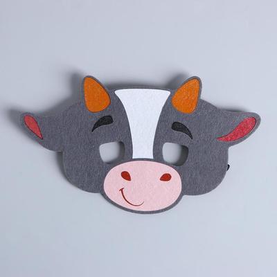 Фото Карнавальная маска Бычок Сэм из фетра
