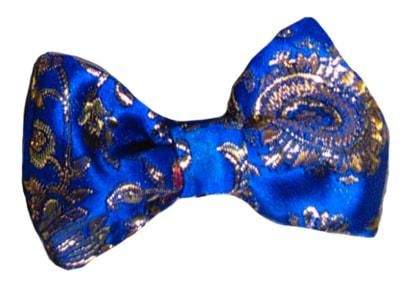 Фото Галстук-бабочка на резинке синяя