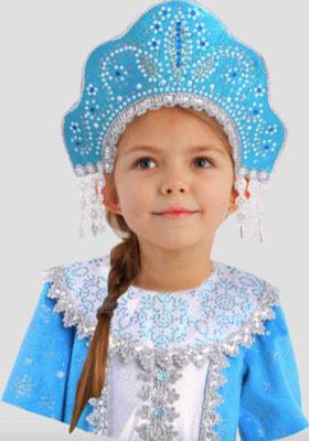 Фото Кокошник Сударушка Снегурочка детский