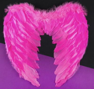 Фото Крылья ангела розовые 36 см