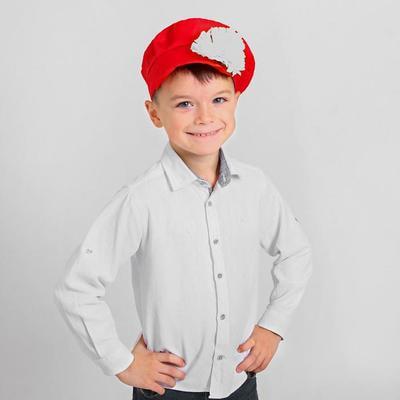 Фото Картуз с цветком красный детский