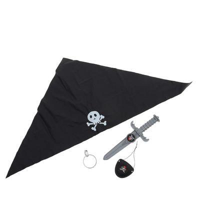 Фото Набор пирата Черная бандана, 4 предмета детский