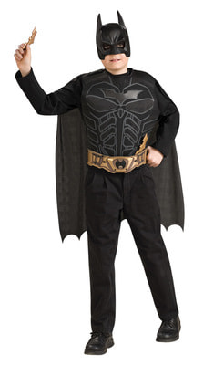 Фото Костюм Бэтмен черный с плащом и маской взрослый