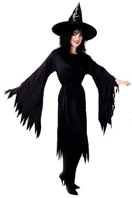 Фото Костюм Ведьма в черном платье взрослый