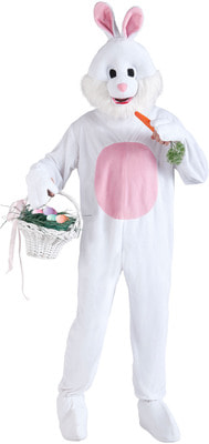 Фото Костюм Белый кролик взрослый